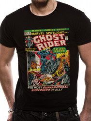 Ghost Rider Marvel Comics Black Unisex T-Shirt