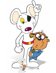 Danger Mouse and Penfold with Mini Cardboard Cutout