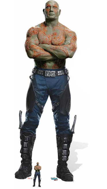Drax the Destroyer with Mini Cardboard Cutout