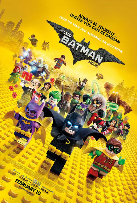 Lego Batman Original Movie Poster – Cast Final Style