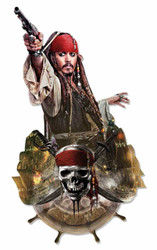 Jack Sparrow Pirates of the Caribbean 3D Effect Cardboard Cutout Wall Art