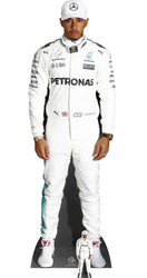 Lewis Hamilton with Mini Formula One Racing Driver Cardboard Cutout / Standee