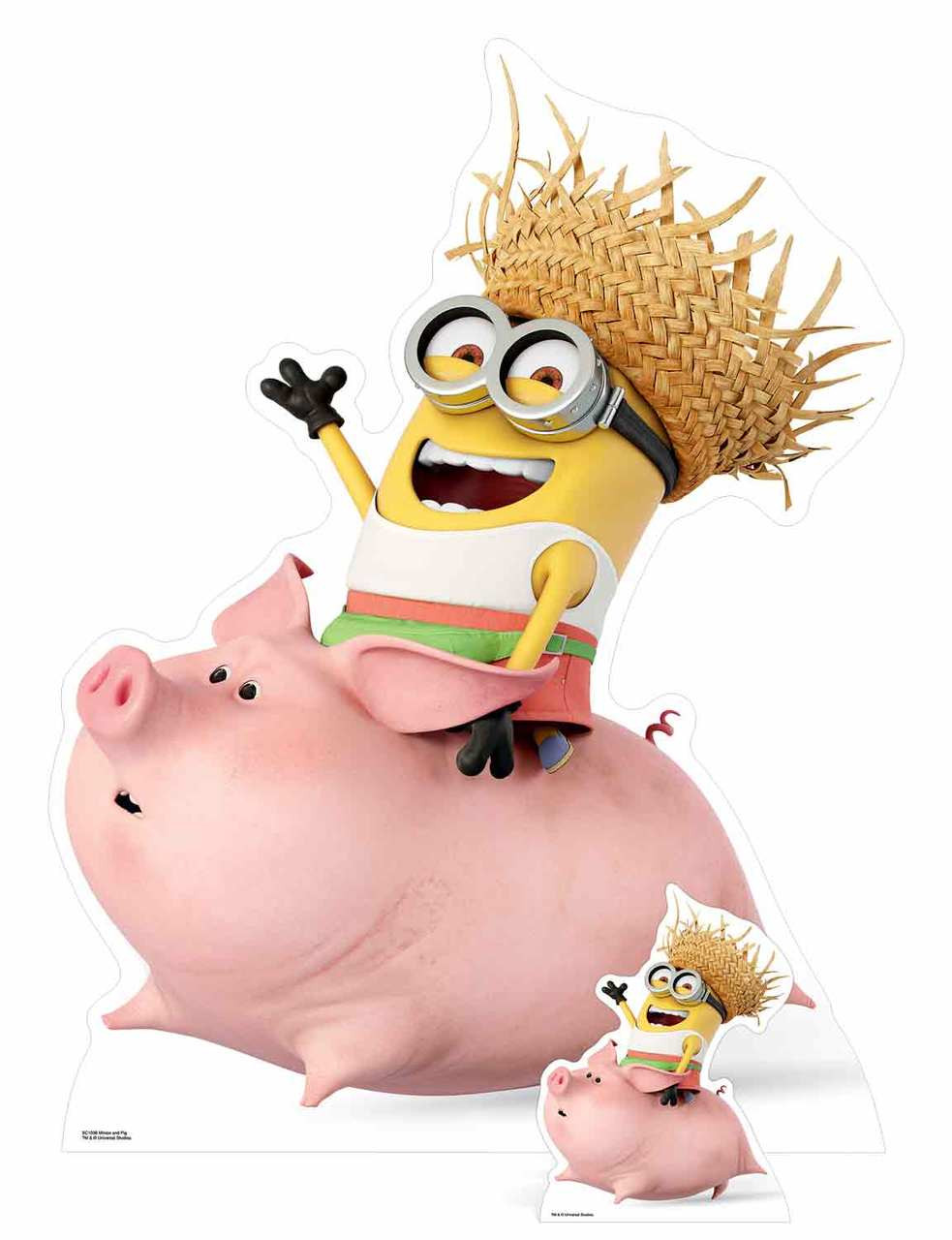 Details Sur Dave Moche Et Mechant Riding A Cochon Me 3 Avec Mini Decoupe En Carton Les