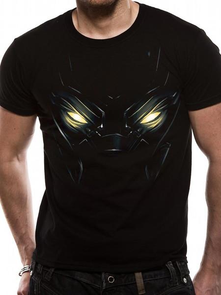 Black Panther Eyes Official Marvel Black Unisex T-Shirt