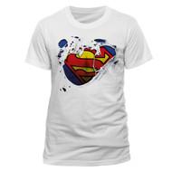 Superman Torn Logo DC Comics Official Unisex T-Shirt