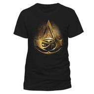 Assassin's Creed Origins Gold Hieroglyphics Official Black Unisex T-Shirt