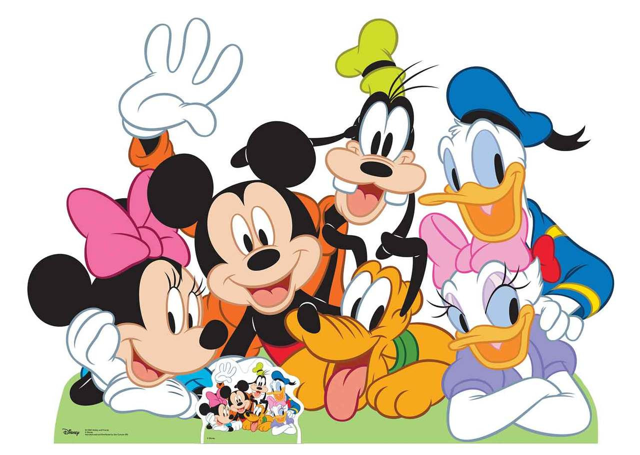 mickey mouse and friends lifesize cardboard cutout standup. Black Bedroom Furniture Sets. Home Design Ideas