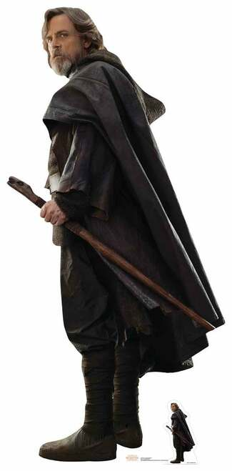 Luke Skywalker Star Wars The Last Jedi Lifesize Cardboard Cutout
