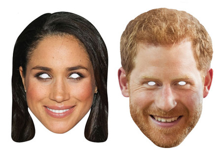 Prince Harry and Meghan Markle Mask Twin Pack