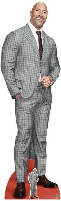 Dwayne Johnson Check Suit Lifesize Cardboard Cutout