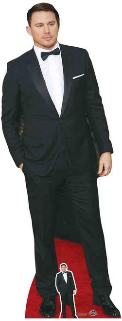 Channing Tatum Black Bow Tie Lifesize Cardboard Cutout