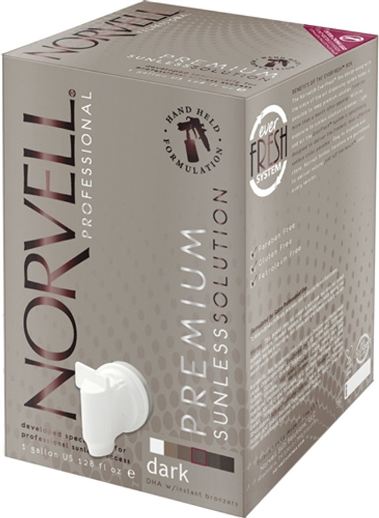 Norvell Amber Sun CLEAR Premium Airbrush Solution 1 Gallon