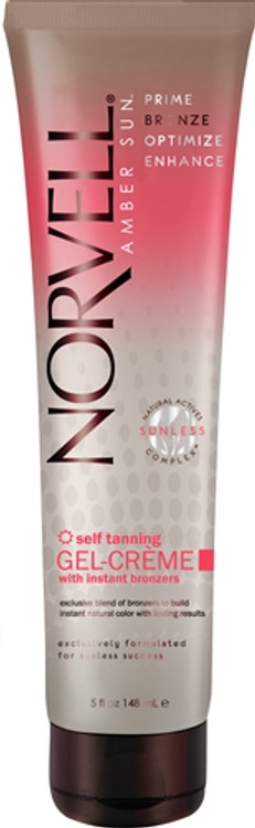 Norvell Amber Sun Self Tanning Gel Cream with Bronzers