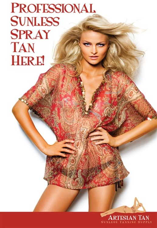 Artesian Tan Sunless Tanning Poster