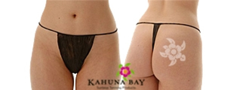 Kahuna Bay Tan Disposable Thong Underwear 50pk