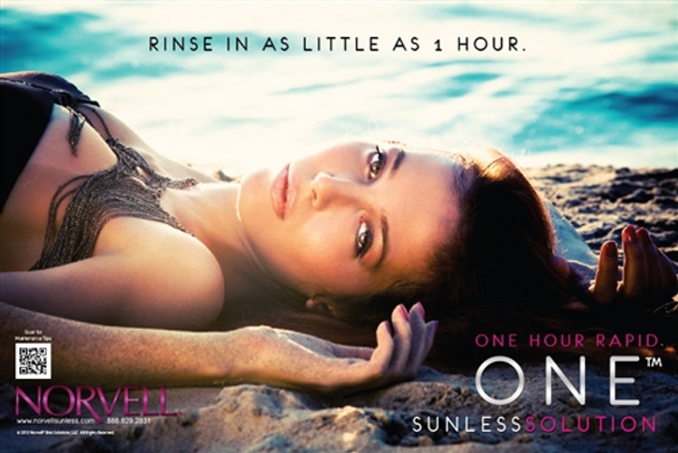 Norvell ONETM Hour Rapid Sunless Solution Poster 9803
