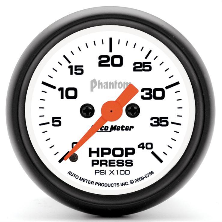 High Pressure Meter : Auto meter phantom high pressure oil pump gauge