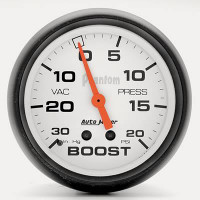 Auto Meter Phantom - Boost Gauge 67mm: 20 PSI