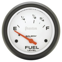Auto Meter Phantom - Fuel Level Gauge 67mm - 73 ohms / 10 ohms