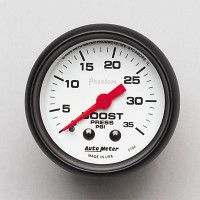 Auto Meter Phantom - Boost Gauge 35 PSI