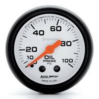 Auto Meter Phantom - Oil Pressure Gauge: 0-100 PSI