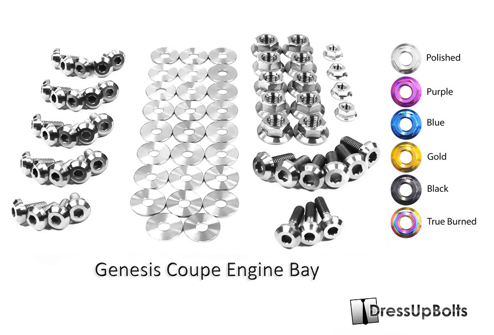Dress Up Bolts Titanium Engine Bay Kit for Genesis Coupe 2010+