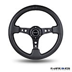 "NRG Innovations - 350MM SPORT STEERING WHEEL (3"" DEEP) - LEATHER"