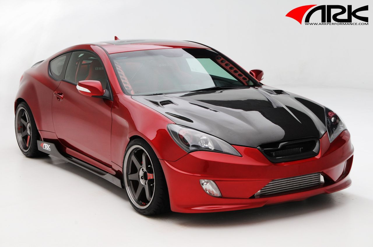 ark s fx front wide body kit for hyundai genesis coupe. Black Bedroom Furniture Sets. Home Design Ideas