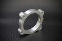 Torque Solution Throttle Body Spacer (Silver) For Hyundai Genesis V6 3.8L 2013+