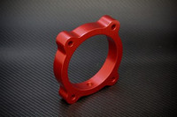 Torque Solution Throttle Body Spacer (Red) for Hyundai Genesis V6 3.8L 2013+