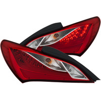 ANZO L.E.D TAILLIGHTS RED/CLEAR FOR HYUNDAI GENESIS 10-16 2 DR