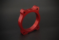 Torque Solution Throttle Body Spacer (Red) For Hyundai Genesis V6 2010-12