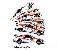 GenRacer #78 Race Car Die Cut Small Sticker - 2018 Livery