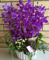 Orchid Ceramic Arrangement Purple Classic