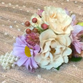 'PINK CHAMPAGNE' WRIST CORSAGE - 48hrs notice required/Pick up Only