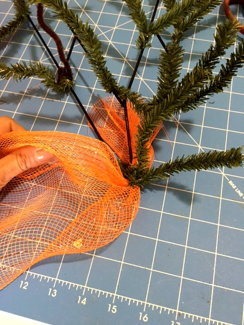 Deco Mesh Carrot How To The Wreath Shop