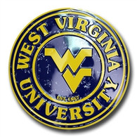 West Virginia Mountaineers Embossed Metal Circular Sign