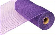 "10"" Deco Poly Mesh: Metallic Purple with Purple Foil"
