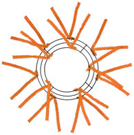 "10-20"" Small Pencil Work Wreath Form: Orange"