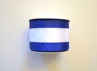 "2.5"" Royal Blue/White Stripe Ribbon - 10Yds"
