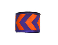 "2.5"" Purple/Orange Big Chevron Ribbon - 10Yds"