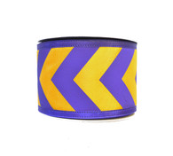 "2.5"" Purple/Yellow Gold Big Chevron Ribbon - 10Yds"