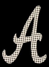 "10"" Houndstooth Letter A"