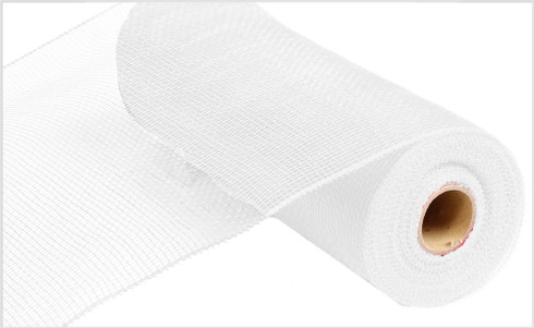 "Deco Mesh - White - 10"" x 10Yd (RE130227)"