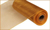 """10"""" Deco Poly Mesh: Two Tone Brown/Gold"""