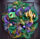 Metallic Emerald Mesh used in this Mardi Gras Mesh Wreath