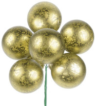 Antique Gold Ball Ties 50mm (6)
