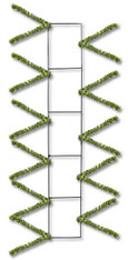 "22"" Wire Work Pencil Rail Form: Metallic Lime Green"