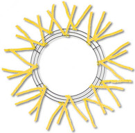 "15-24"" Pencil Work Wreath Form Yellow"
