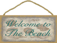 Welcome to the Beach Wooden Sign